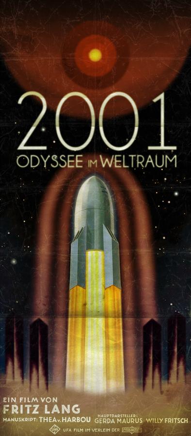 """Póster retro de """"2001"""""""