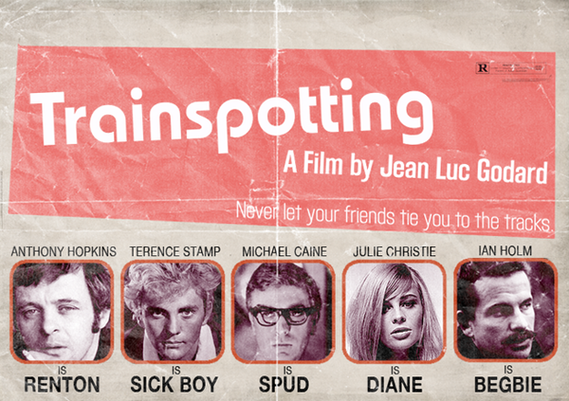 "Poster retro de ""Trainspotting"""