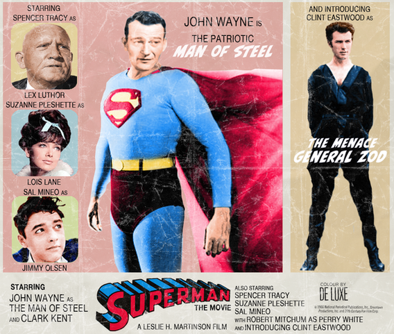 "Póster retro de ""Superman"""
