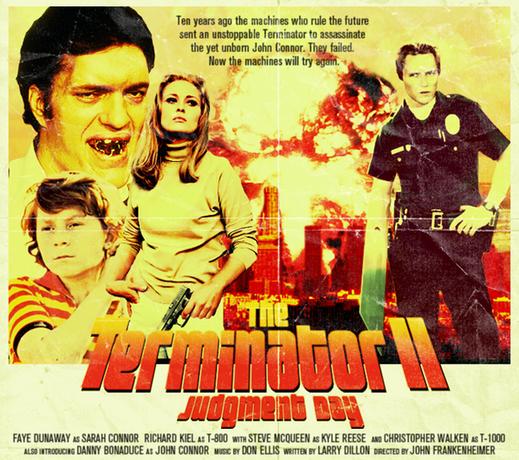"""Póster retro de """"Terminator 2"""""""